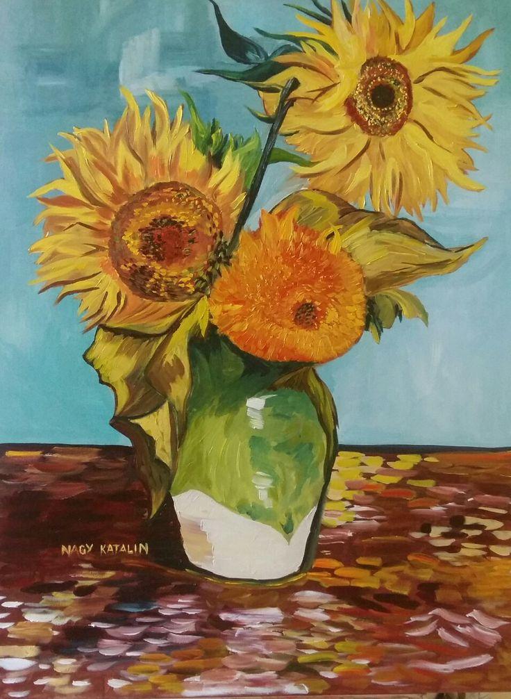 Based on Van Gogh's painting 80x50 oil canvas Van Gogh  festménye alapján 80×50 olaj vászon