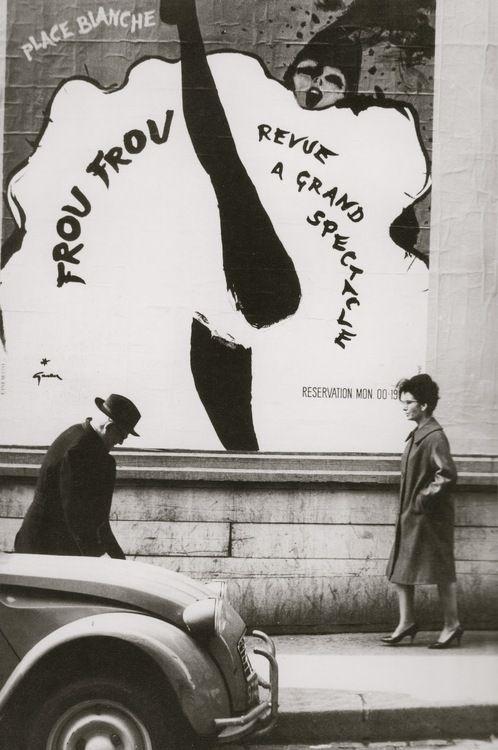 Affiche de René Gruau (René Gruau poster), Paris, ca. 1960.