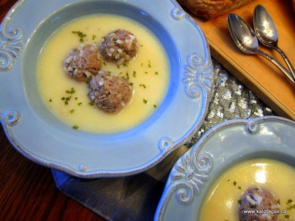Giouvarlakia Soup - Kalofagas - Greek Food & Beyond - Kalofagas - Greek Food & Beyond