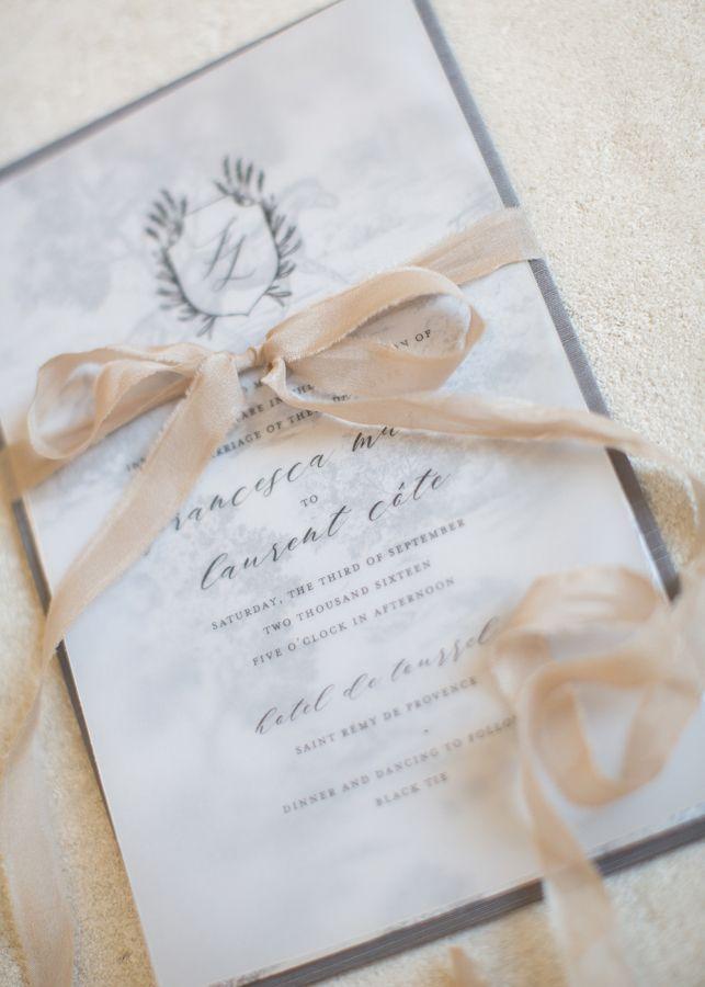 Grey and nude vintage wedding invitation httpwwwstylemeprettycom