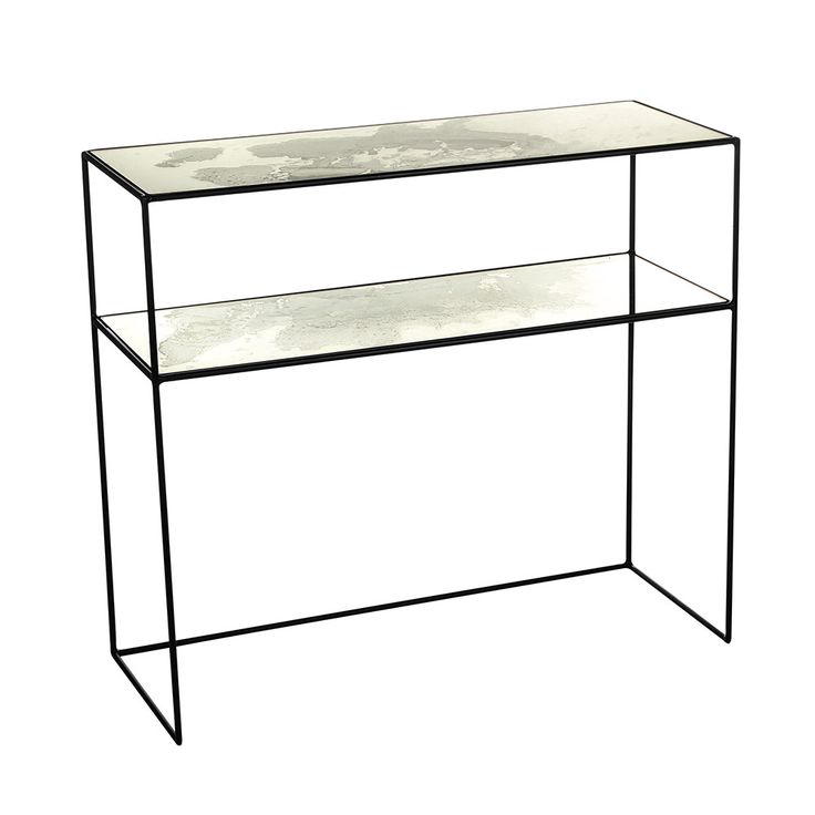 Breathe new life into your interior with this Iridescent Glass Console Table from Amara. Featuring a raw metal frame, its glass surface has been adorned by a beautiful mirrored mercury effect. This...