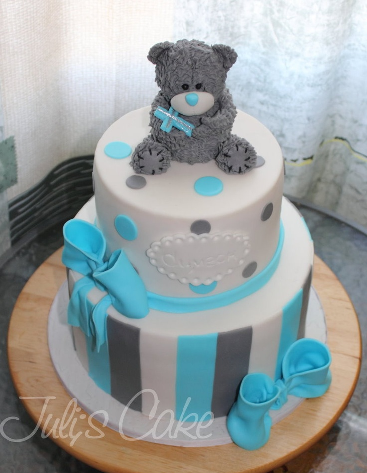 Me to You Bear Christening Cake