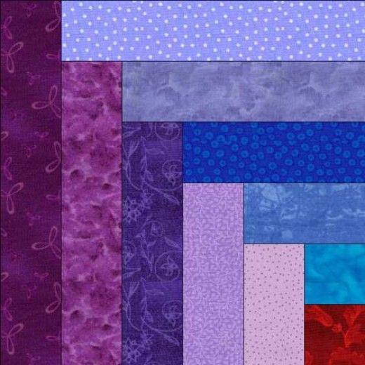 Log Cabin Quilt Blocks: Four Popular Block Pattern Variations