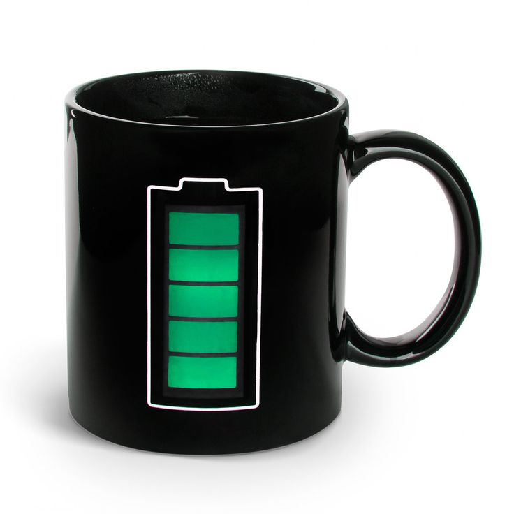 Thermal Battery Mug--charges up as it is filled with coffee | Fab