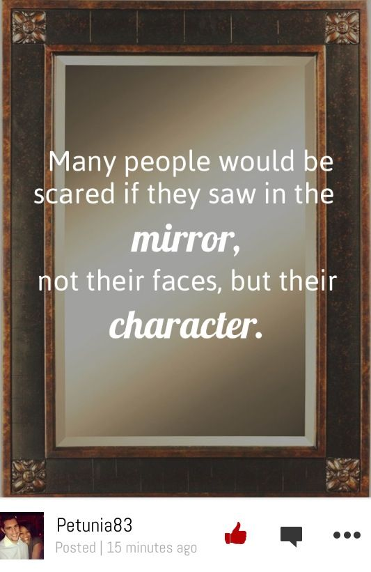 Great quote to get the discussion about character going in your chapter!