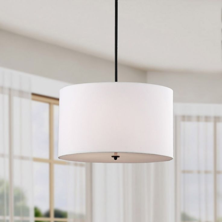 Indoor 4 Light White Shade Pendant Chandelier (Iron). Lighting StoreTable  ...