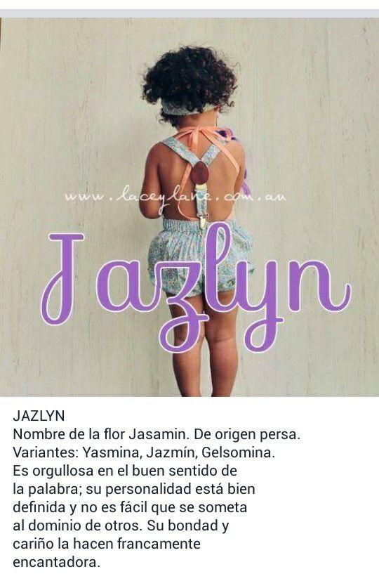 Nombres de niñas, significado del nombre Jazlyn; hermoso nombre