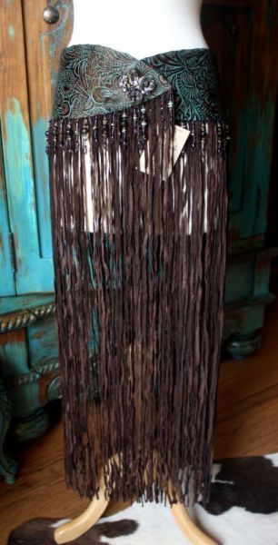 would like to see this over leggings......Cowgirl Fashion :: Belts :: PAT DAHNKE AMAZING LONG FRINGE YOKE BELT -