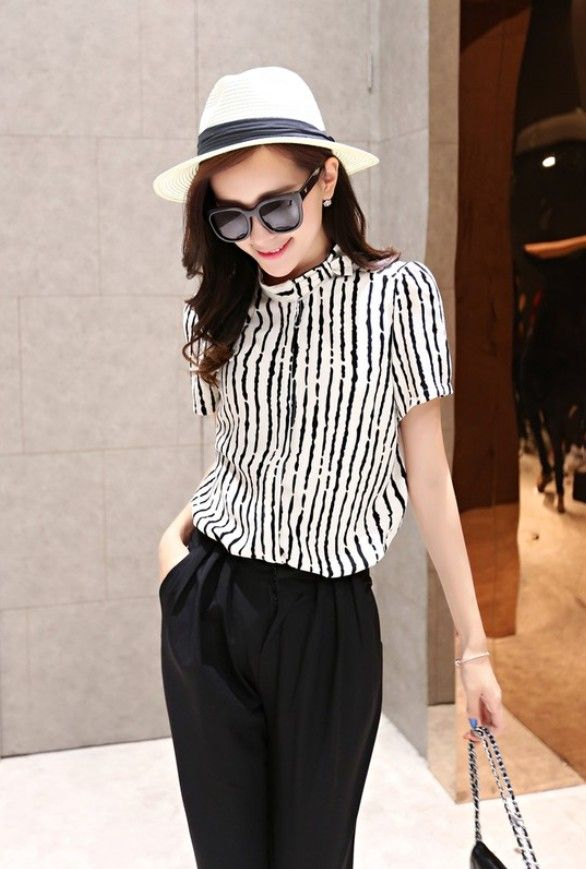 Summer chiffon girls shirt YRB0799