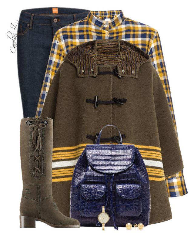 Missoni Cape & Chanel Boots by carolinez1 on Polyvore featuring M Missoni, BOSS Orange, Nancy Gonzalez, Stella Jean and Chanel