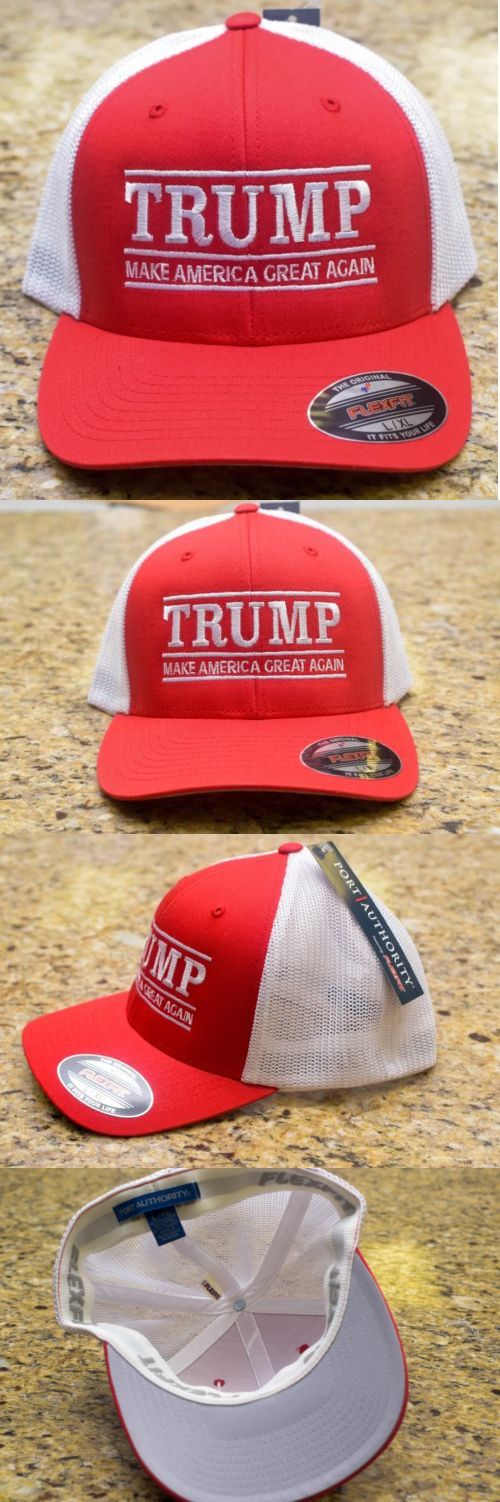 donald trump: Make America Great Again Hat-Donald Trump 2016 Republican - Red Flexfit L/Xl Cap BUY IT NOW ONLY: $18.99