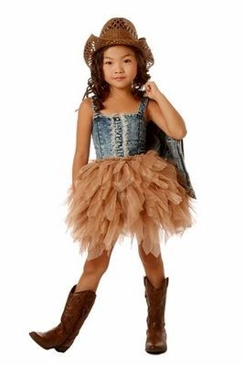 Shabby Chic Blue Jean Tutu Dress Preorder - Children's Fall Clothing 2013