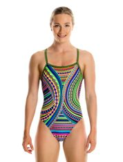 Tribal Revival Swimwear Girls Strapped In One Piece
