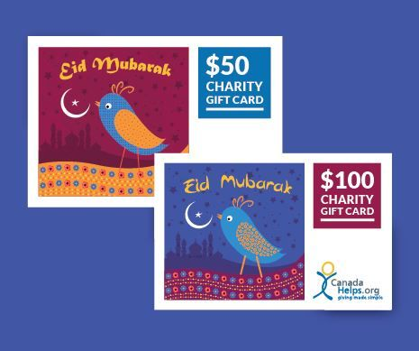 Eid al-Fitr is almost here! Celebrate the end of Ramadan with a #CanadaHelps Charity Gift Card to wish an Eid Mubarak to all those celebrating.  Either sent via email or printed out, your recipient will enjoy the gift of giving as they select their favourite charity to distribute the funds to.  What better way is there to celebrate than by giving?  #Eid #EidMubarak #CanadaHelps #charity #donate