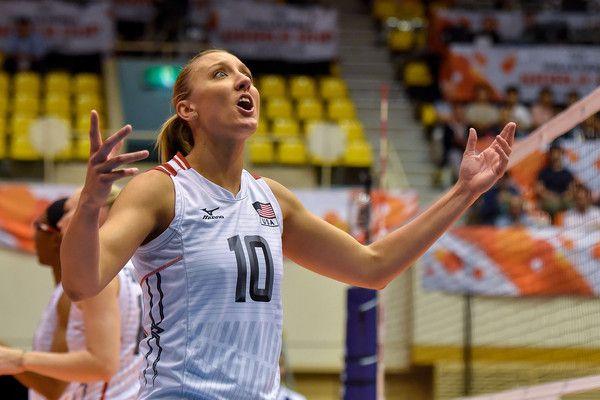 Jordan Larson Burbach Photos Photos Usa V China Fivb Women S Volleyball World Cup Japan 2015 Women Volleyball Volleyball Volleyball Players