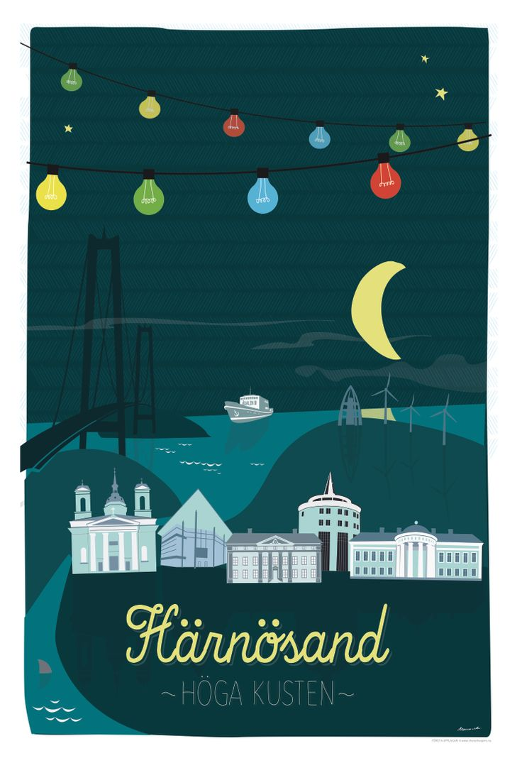 Poster 50x70, Härnösand, the High Coast