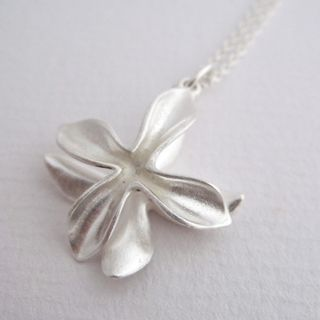 A match for the Anise Earrings - the Ixora Pendant hand crafted from stirling silver by One Day Soone.