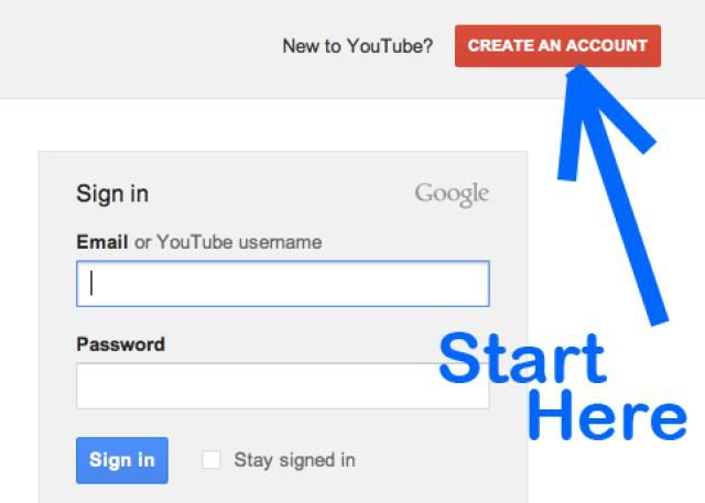 """How to Sign Up For a YouTube Account: Click """"Create an Account"""" on YouTube's home page to sign up."""