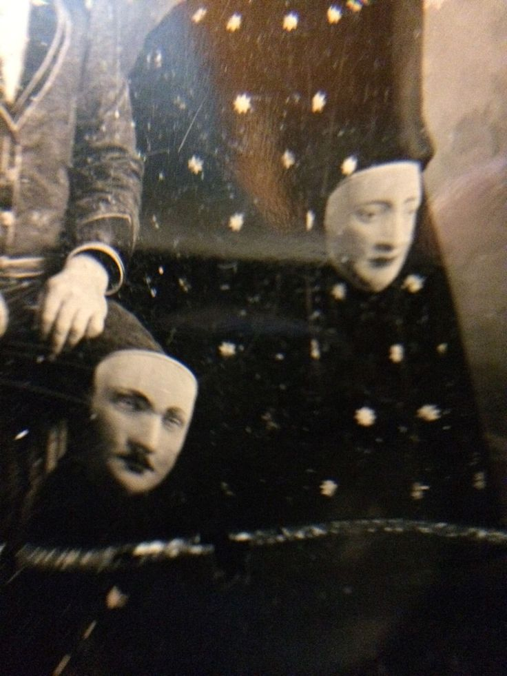 WHITE MASK PARTY THEATER COSTUME ACTOR ACTRESS MAN WOMAN TINTYPE PHOTO 1197   eBay