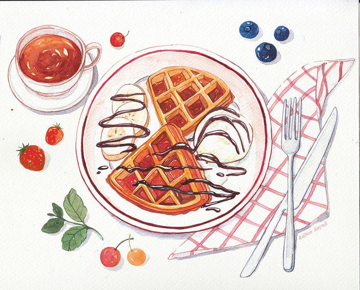 Confira este projeto do @Behance: \u201cWatercolor Food Illustrations\u201d https://www.behance.net/gallery/44539759/Watercolor-Food-Illustrations