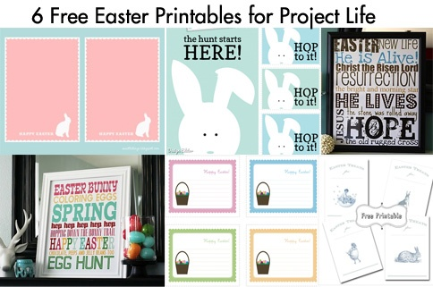 Blog for Project Life printables