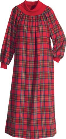 Flannel nightgown | Long | Christmas Inspirations in 2019 ...