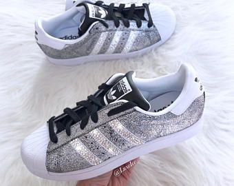 Adidas Originals Superstar - Black Holographic - with SWAROVSKI® Xirius  Rose-Cut Crystals. 76c58a8d1