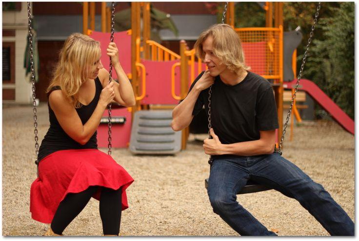 Na dětském hřišti, v lanovém parku... třeba při focení ;-)