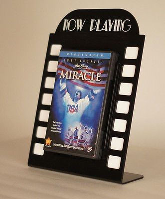 Good idea for little movie nights, you can display the DVD case.