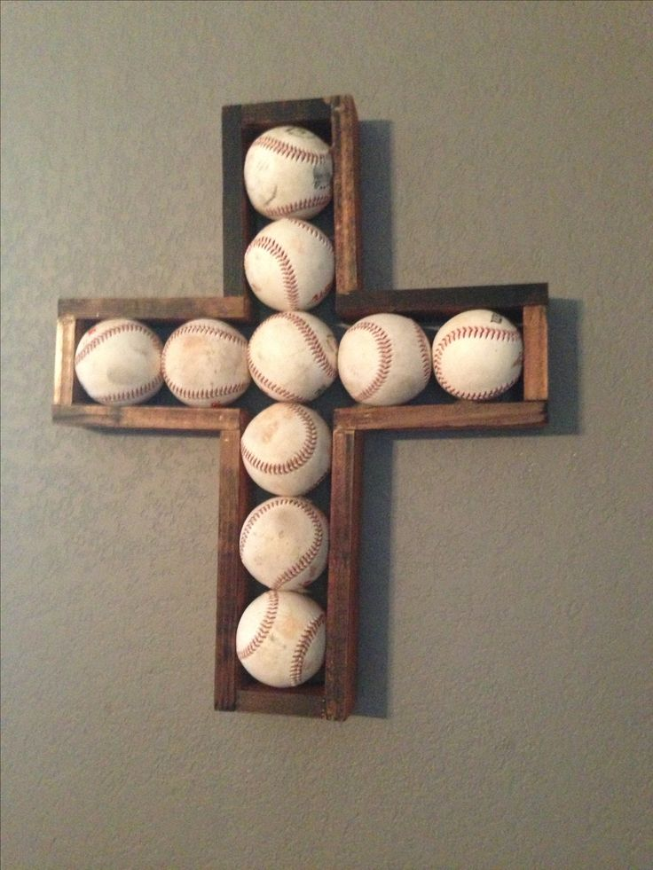 Baseball cross! I want this for the boys room!!