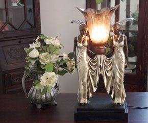 LAMPA W STYLU ART DECO, wys. 50 cm