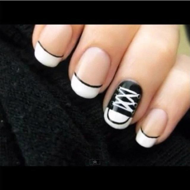 Punk rocker nails:)