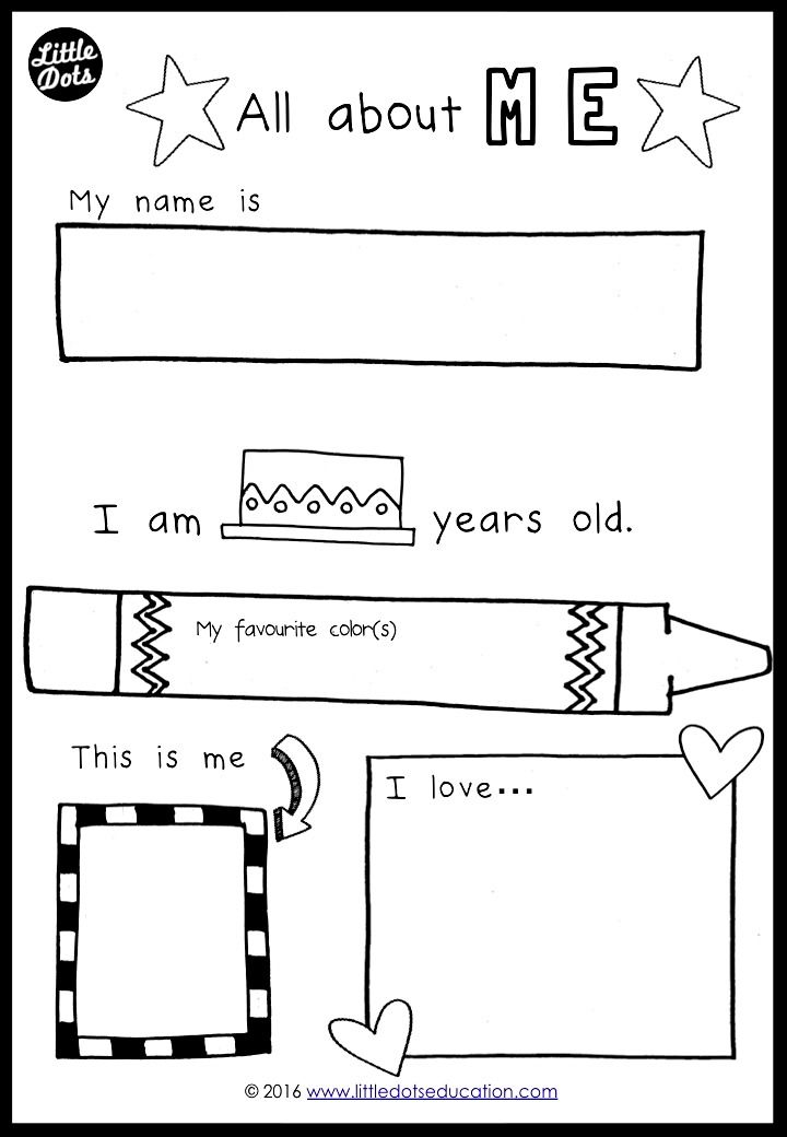 Free all about me preschool theme printable for prek or