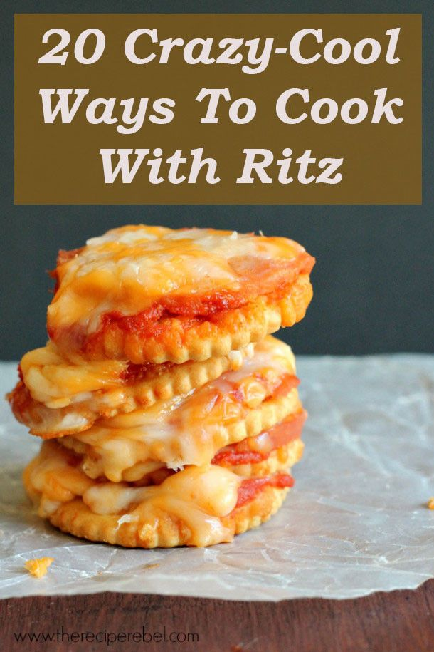If You Like Ritz Crackers, Then You're Gonna Love These Awesome Recipes