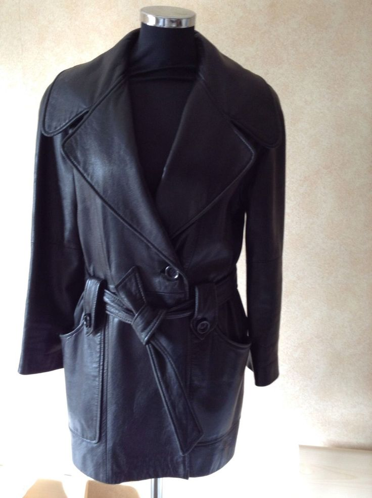 SOLD 1970s GIVENCHY Ladies Black Leather Jacket, vintage, collectible by JosiesVintageStore on Etsy