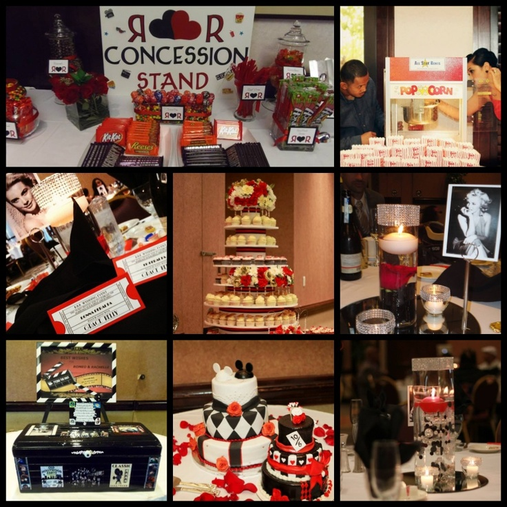 Super Cute Idea For Dessert Table   Concession Stand W/movie Style Candy  Bars From