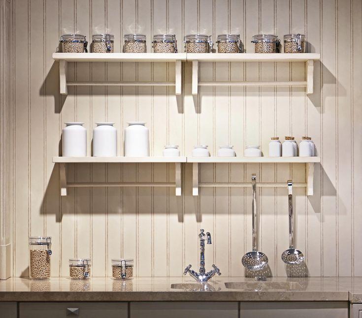 White Kitchen Wall Shelves