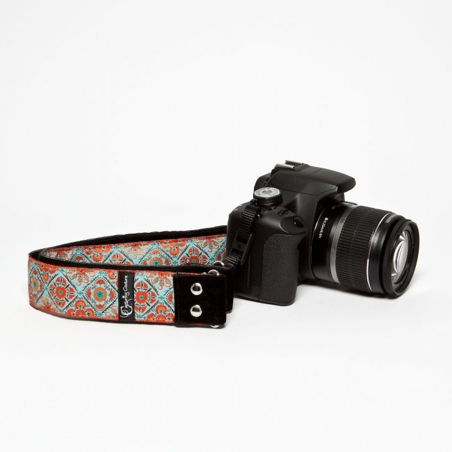 Summer Bliss Kameraband - DESIGNSTRAPS - Kameragurte, Kamerataschen, C-Loop, Gitarrengurte, Camera Straps