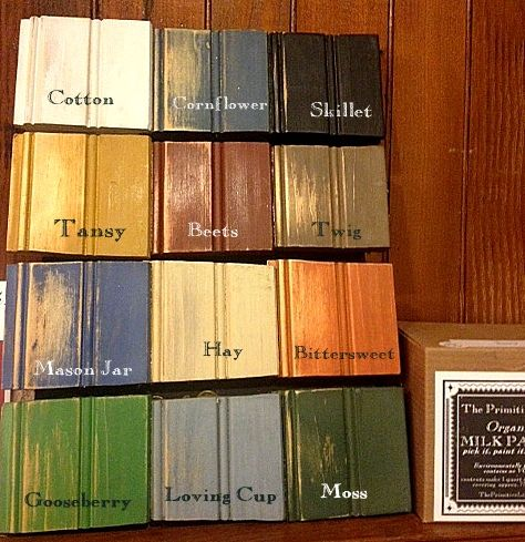 The Primitive Life Milk Paint colors.