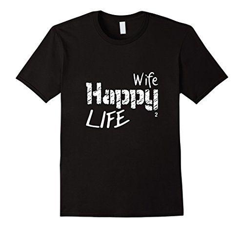 Men's Funny Love Slogan Happy Wife Life Women Men Couple…