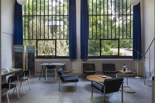 Maison Van Doesburg, 29, rue Charles Infroit Meudon-Val-Fleury 92190 Intérieur de l'atelier.