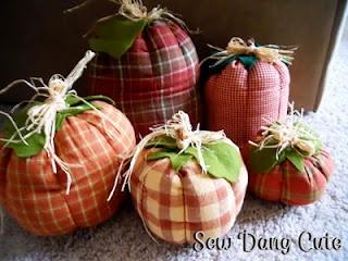 Sew Dang Cute Crafts: Fabric Pumpkins