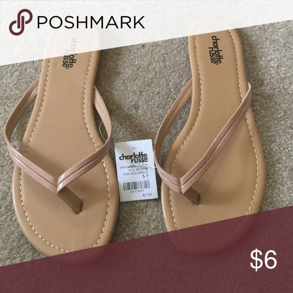 Brand new Charlotte Russe tan sandals size 7 Brand new tan sandals 7. Charlotte Russe with tags Charlotte Russe Shoes Sandals