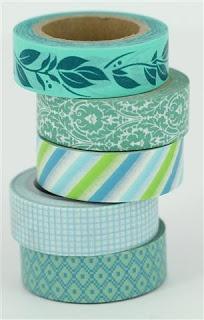 turquoise washi tape  www.craftqueen.com.au