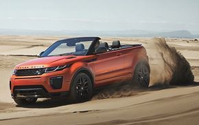 Not recommended: If you are going to drive the Evoque Convertible in the desert, we sugges...