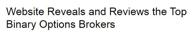 Top Binary Options Brokers   Binary Options Brokers