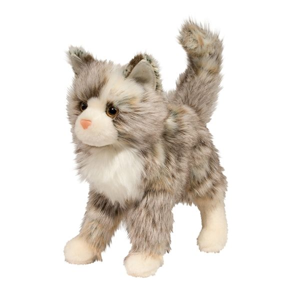 Gizmo The Plush Tan And Gray Mixed Cat By Douglas Cat Plush