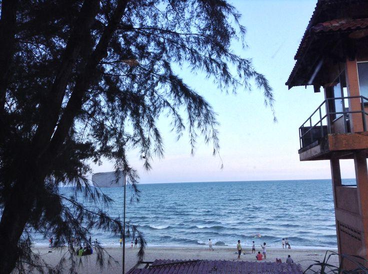 Beach with coffee