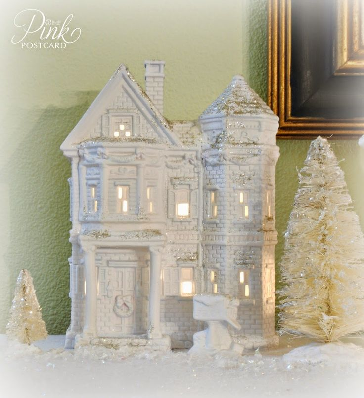 Best 25 Christmas Village Houses Ideas On Pinterest