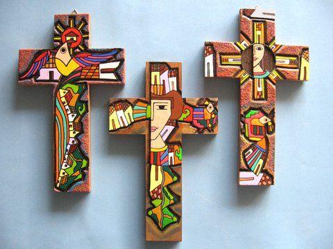 Cruz de madera.